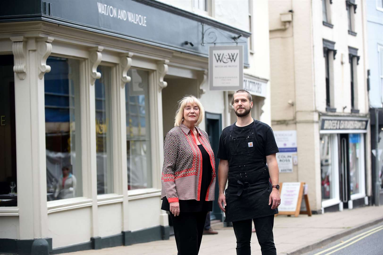 Ruth Watson (TV Personality) has opened a new Italian Restaurant in Framlingham with Rob Walpole..Pictured: Ruth Watson and Rob Walpole...PICTURE: Mecha Morton.