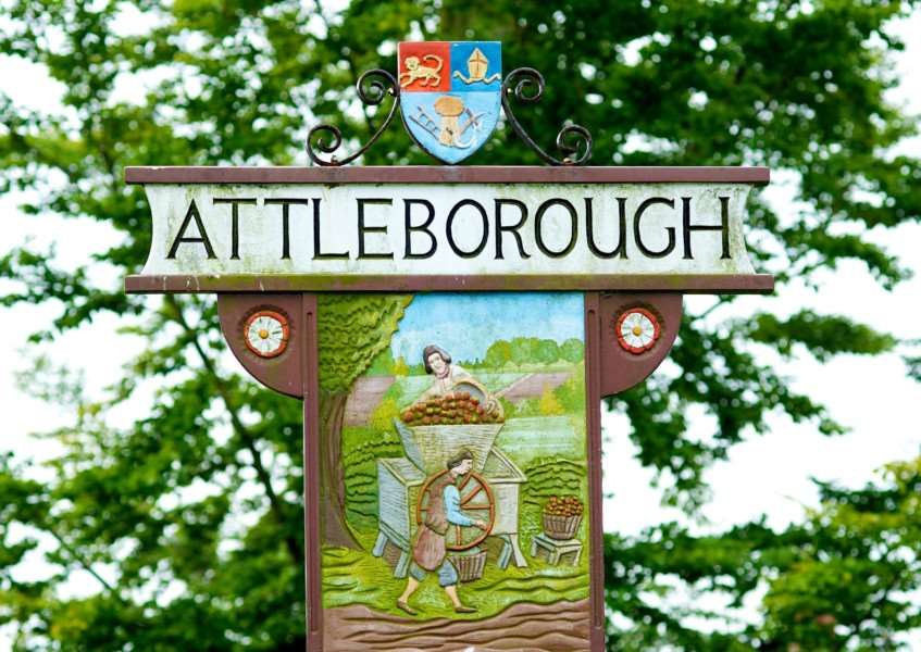 VILLAGE SIGN - ATTLEBOROUGH ENGANL00120121029163520