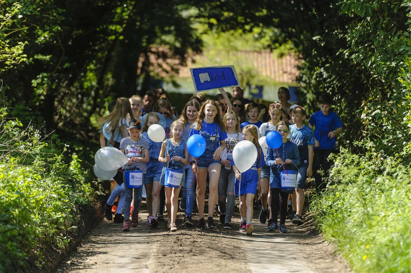 Attleborough, Norfolk. 12-year old Caitlin Taylor and a bunch of her friends will be doing a 5km walk in memory of her dad and raising £5k for charity. Picture: Mark Bullimore Photography (2043533)