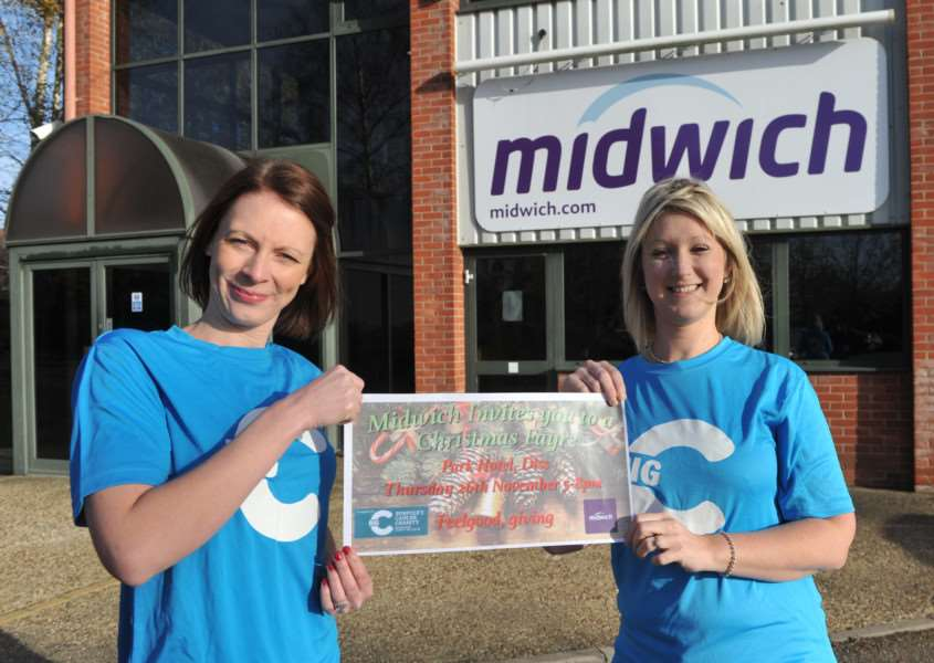 Staff from Midwich are organising an event at the Park Hotel to support the Big C Charity. ''Pictured: Melanie Smith-Kerry and Emma Staples ANL-151118-160458009