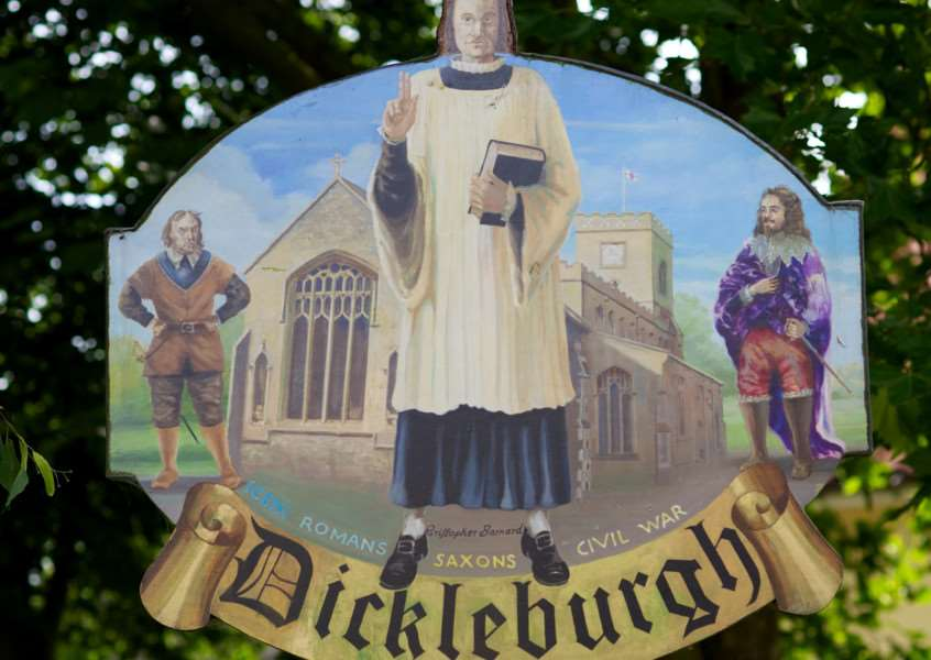 VILLAGE SIGN - DICKLEBURGH ENGANL00120121029163015