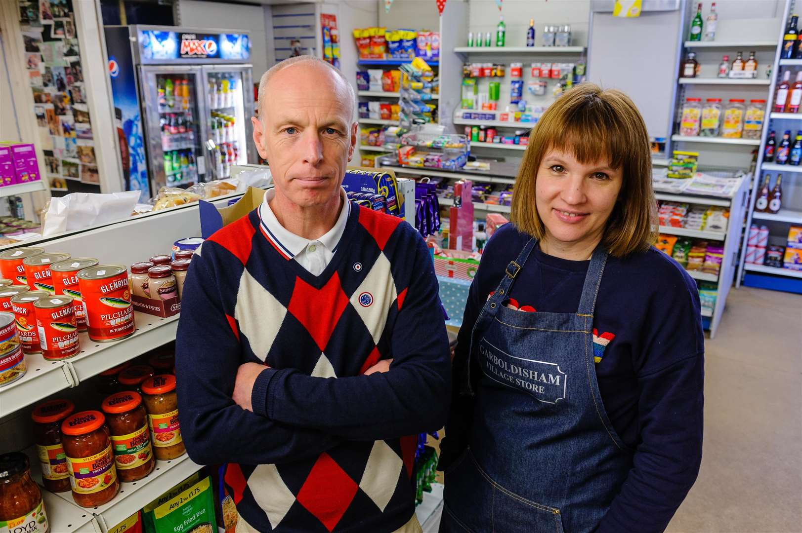 Kelly and Robbie Starling are worried about a drop in customers at the village shop. Picture by Mark Bullimore.