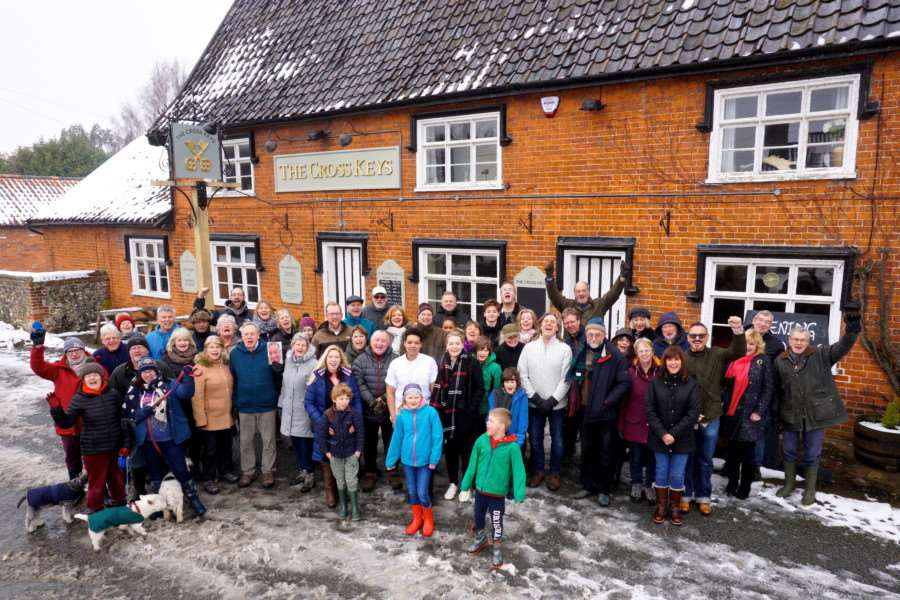 Redgrave, Suffolk. Villagers celebrate the re-opening of the Cross Keys pub in the village by Naomi Miller-Howard'Georgina Earland. ''Picture: Mark Bullimore Photography