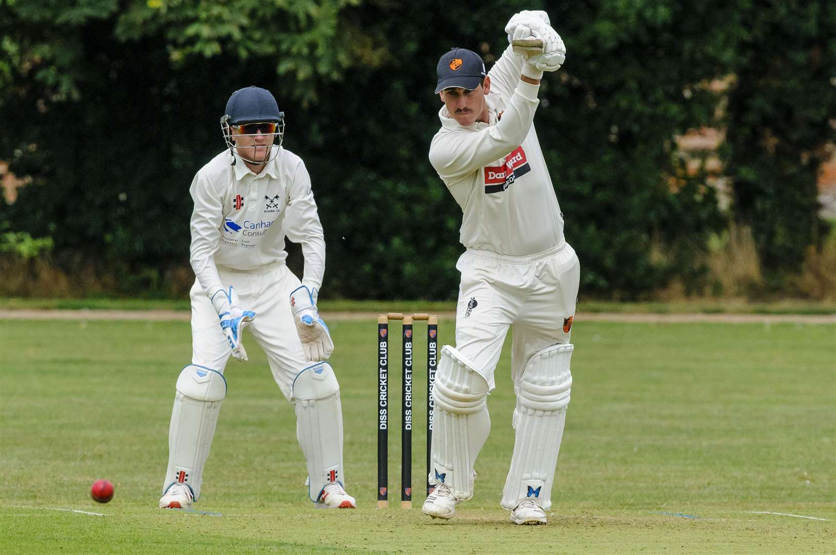 Cricket action from Diss v Brooke - Jebb Swallow in bat for Diss..Picture: Mark Bullimore Photography. (35086366)