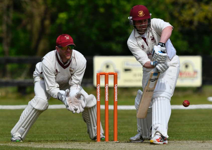 READY TO GO: Terry Perry (batting) is confident Old Buckenham's winter signings can help them to push those teams that will be challenging for the title
