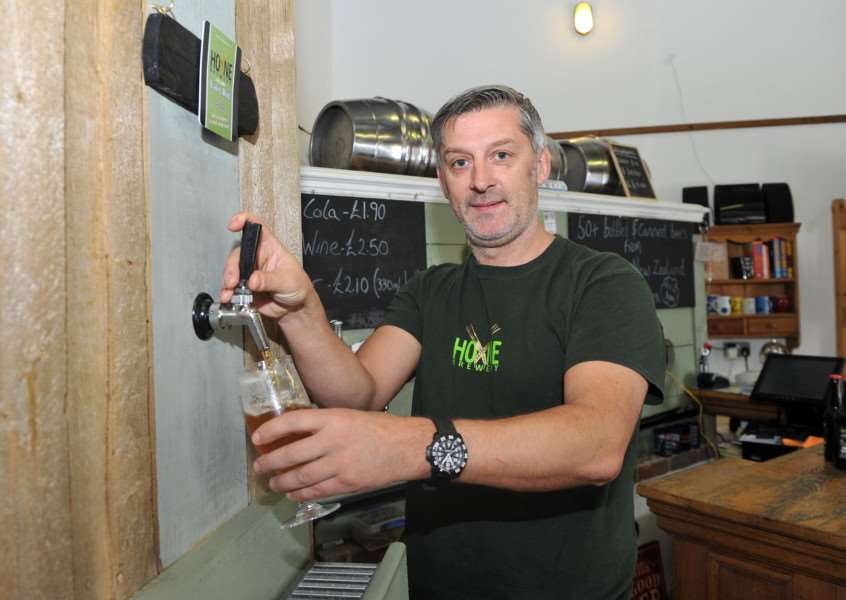The Hoxne Brewery have expanded into Stuston.''Pictured: Owner Dan Steggles. ANL-150513-150920009