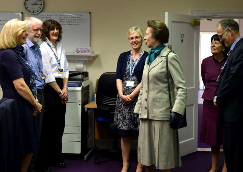Princess Anne visits Citizens Advice Mid Suffolk