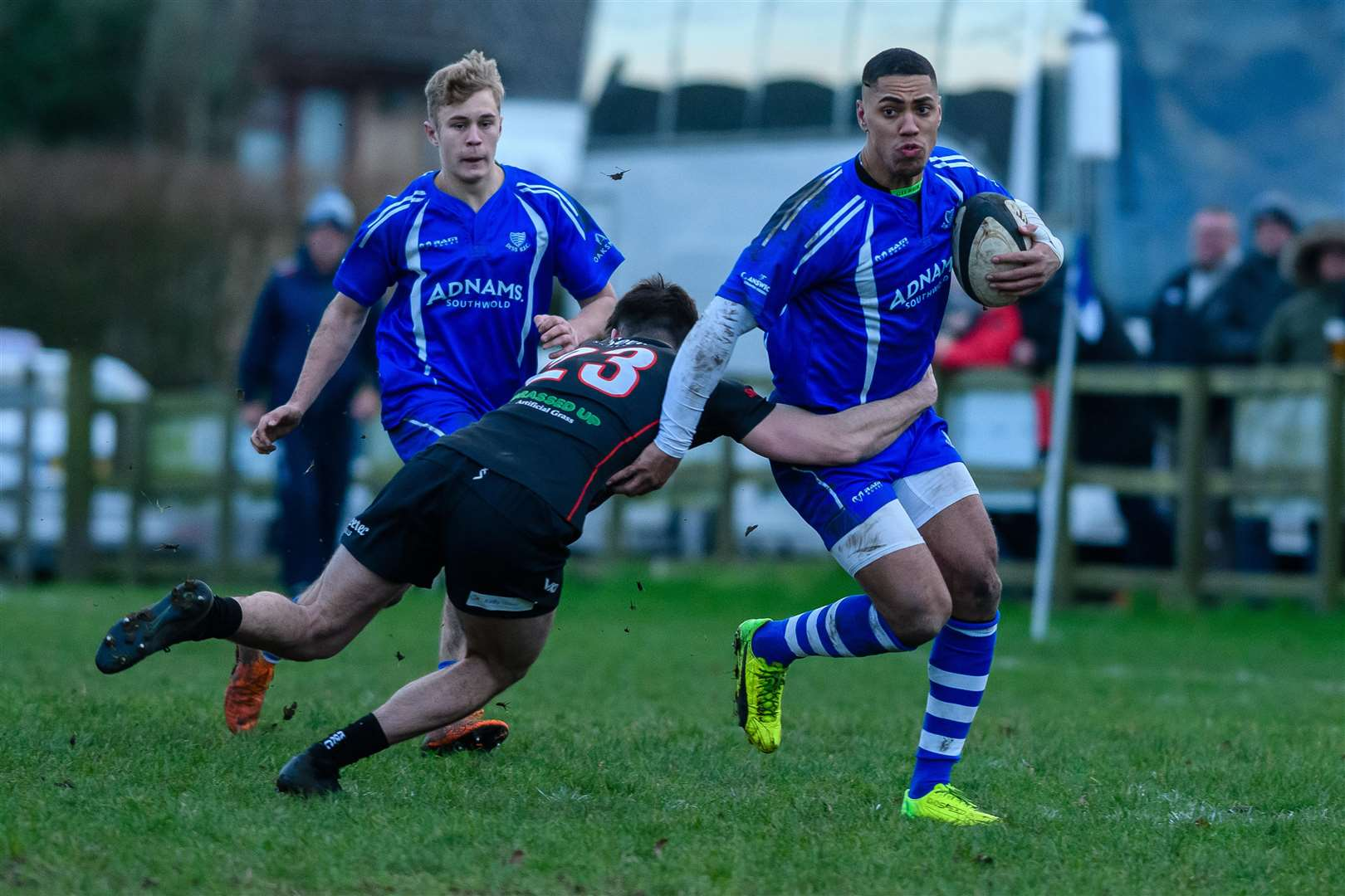 Rugby action from Diss v Rochford Hundred - Shaun Blyth..Picture by Mark Bullimore Photography. (6622513)