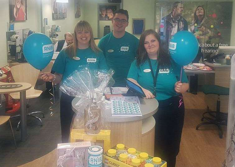 Specsavers in Mere Street, Diss raised money for the Royal National Insititute of Blind People with cakes and games.