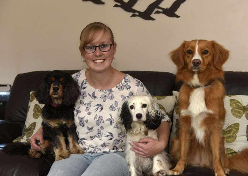 Samantha Plaisted, 22, of Stradbroke, is organising a charity dog show in Dickleburgh. ANL-150710-131135005