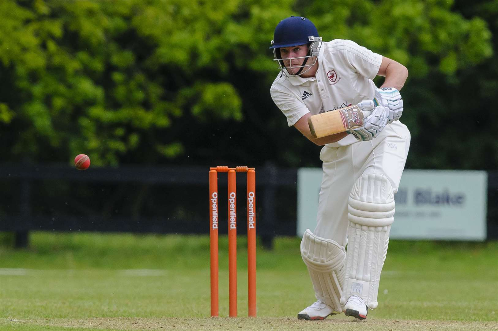 Rob Thurley of Old Buckenham in bat during the Alliance Premier League match between Old Buckenham and Sprowston...Picture: Mark Bullimore Photography. (34315726)