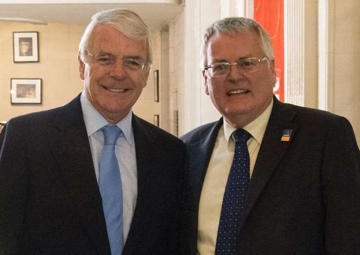 Former PM John Major with EACH chief executive Graham Butland.