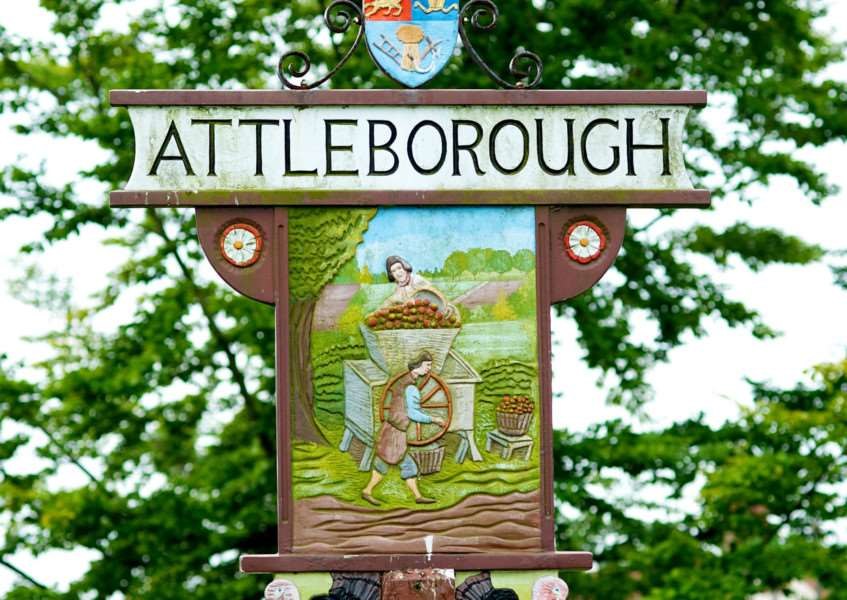 Attleborough town sign