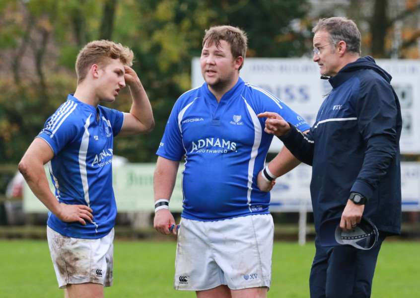 TALKING TACTICS: Dave Smith passes on instructions