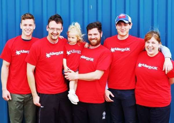 TW Gaze employees on sponsored skydive for Allergy UK. Photo credit: TW Gaze.