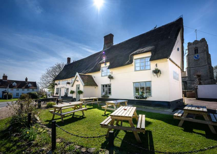 The Crown Inn, Pulham Market. Photo: Andrew David Photography.