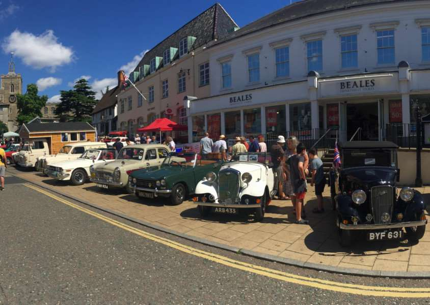 Vintage vehicles in Diss at last year's event.