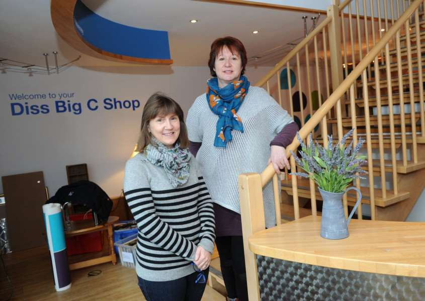The Big C Charity is due to open a new shop in Victoria Road, Diss''Pictured: Tracey Mayhew (Assistant Shop Manager at Wyndham) and Julie Hurst - Manager'''PICTURE: Mecha Morton