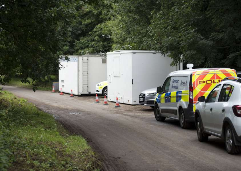 Police cordon at East Harling where a man was murdered.''Picture Mark Westley