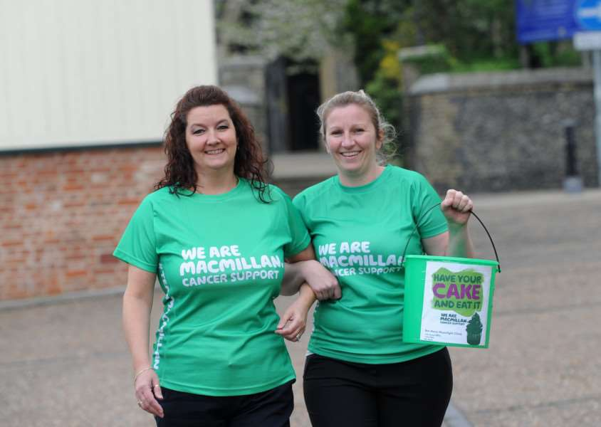 Julie Mallows is taking part in a charity walk up Ben Nevis for MacMillian, along with Anabel Marshall, son Ben and girlfriend Marie''Pictured: Julie Mallows and Anabel Marshall ANL-161105-172421009