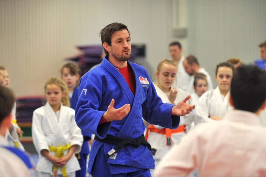 Olympian Colin Oates took a judo demonstration at 'Breckland Leisure Centre ANL-150323-094121009