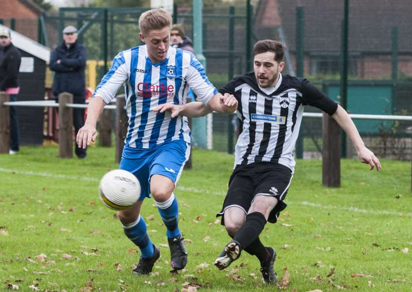 ON TARGET: Connor Delaney scored for Harleston in the reverse fixture with Bradenham