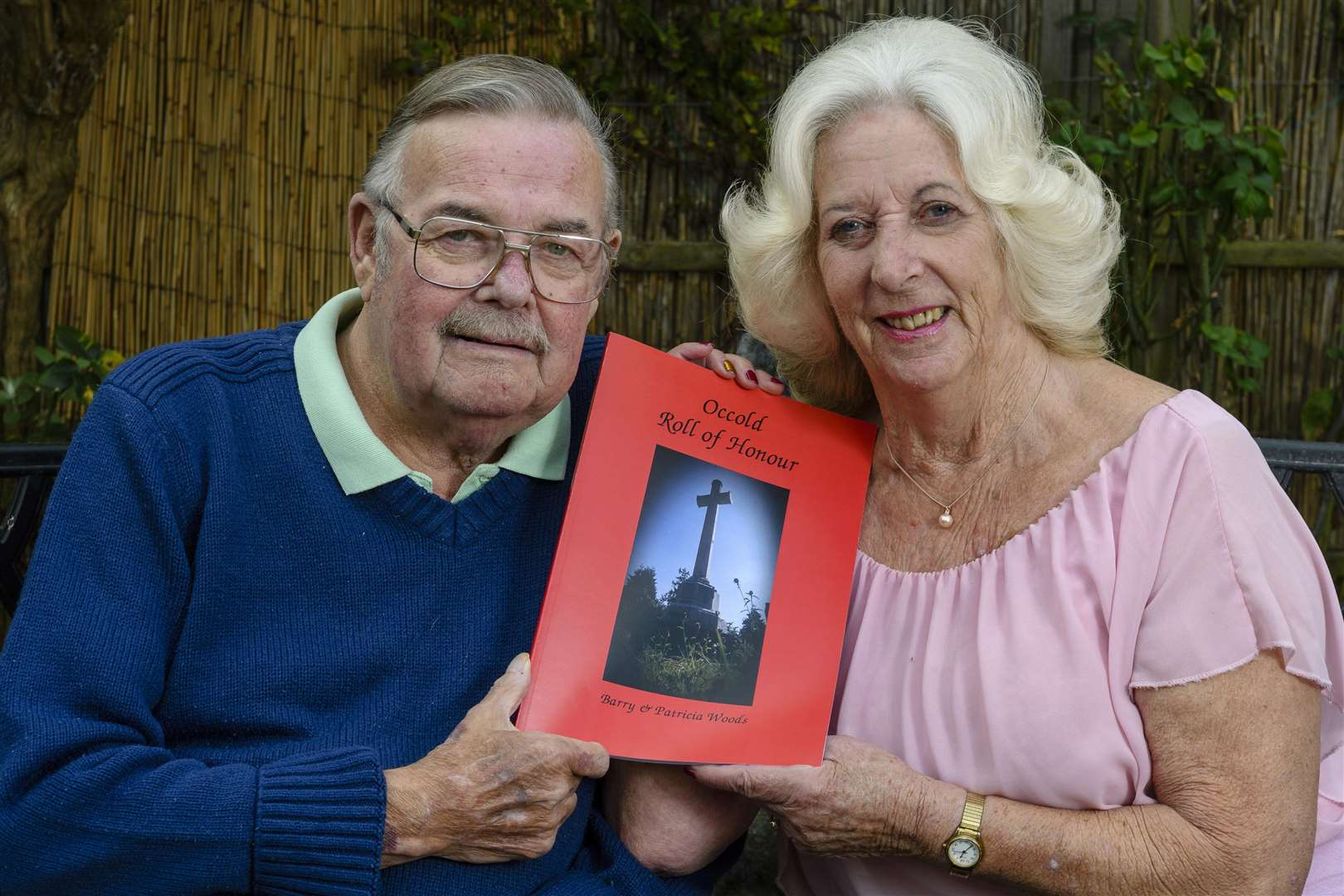 AUTHORS: Barry and Patricia Woods of Occold with their book. Picture by Mark Bullimore Photography.