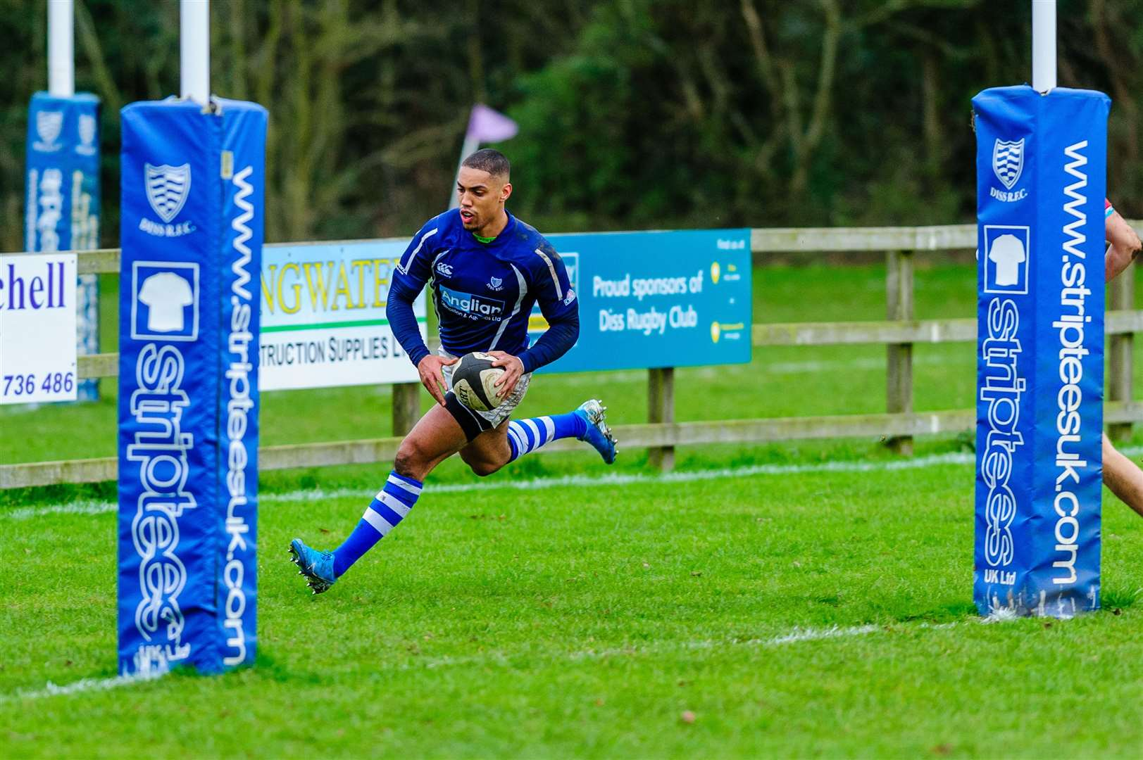 11/01/2020. Roydon, UK. ..Rugby action from Diss v Epping Upper Clapton. Shaun Blyth..Photo by Mark Bullimore. (34421512)
