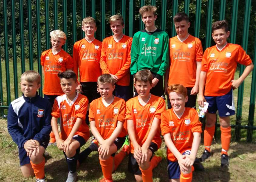 CUP WINNERS: Diss Under-13s