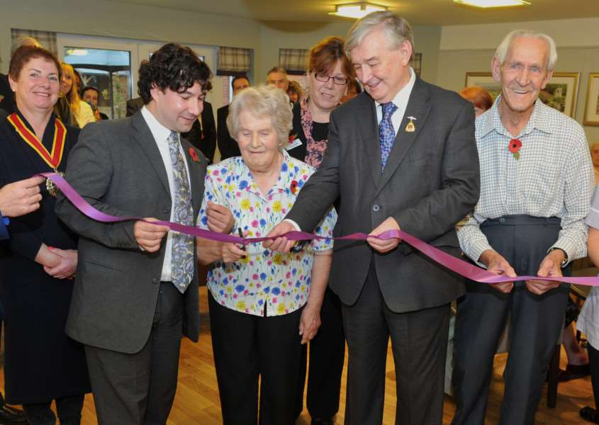 The official opening of Hartismere Place last year.