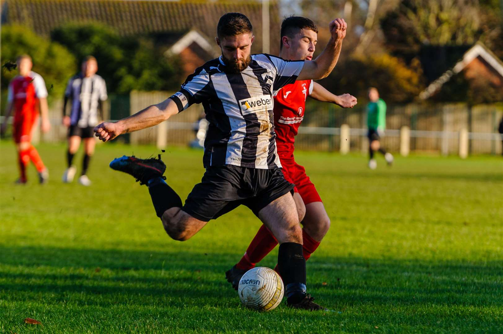 Football action from Harleston Town v Fakenham Town - Nathan Russell..Picture: Mark Bullimore Photography. (37880372)