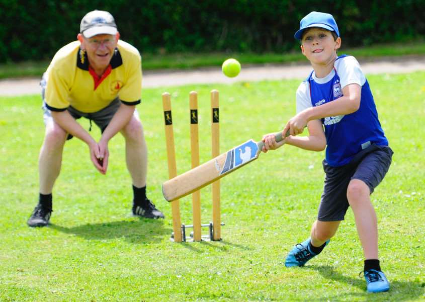 IN BAT: Stradbroke Cricket Club welcomed youngsters from the village to give cricket a try at the weekend