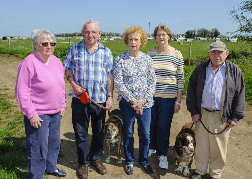 East Harling, Norfolk. Some of the residents of East Harling who are unhappy with the proposed development of farm land along Kenninghall Road. Picture: Mark Bullimore Photography