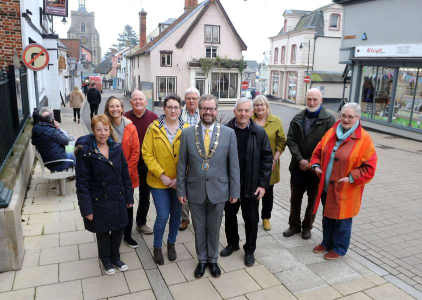 Mayor Trevor Wenman with some of the trustees and founders of the Heritage Triangle project.