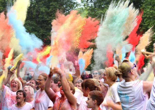 The East Anglia's Children's Hospices Colour Dash event. ANL-150701-133443001
