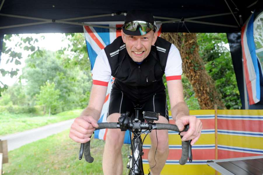 "To celebrate the Ovo Tour of Britain coming through Thornham Parva en-route for the Suffolk coast, village resident Pete Gudde will be trying to cycle the stage without leaving the village! He will be on his static bike outside the Church from the start to finish of Friday�""s stage.''''PICTURE: Mecha Morton"