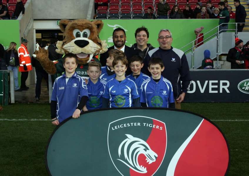 GREAT DAY: Diss youngsters enjoyed themselves at Leicester Tigers
