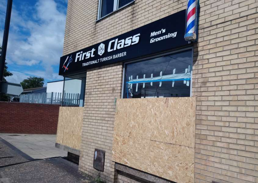 First Class Turkish Barbers in Park Road, Diss. Photo: Zach Ward.