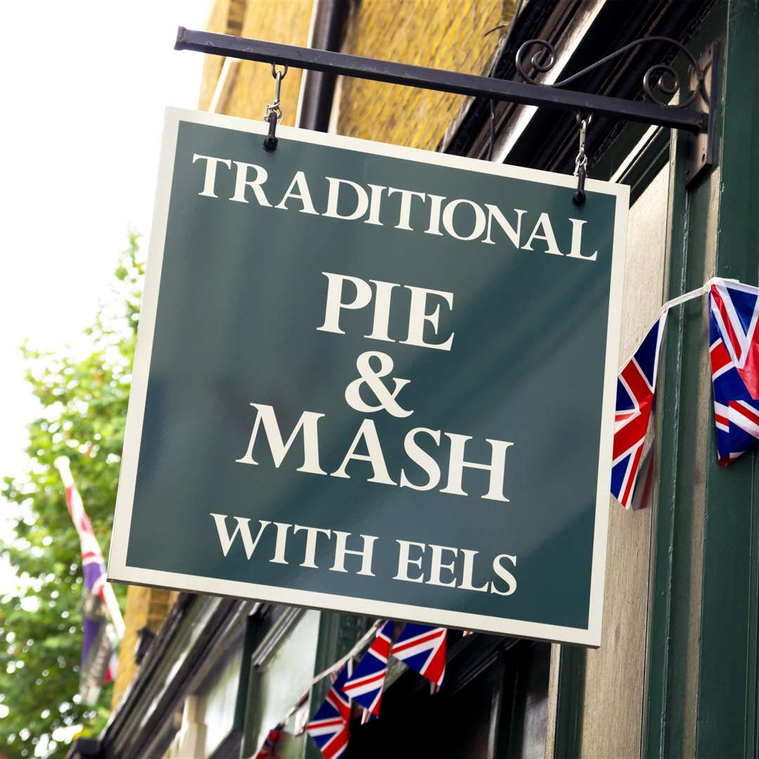 A Pie and Mash shop sign