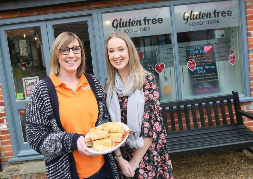 Kirsty and Chloe Howard with some of their in-house gluten free produce