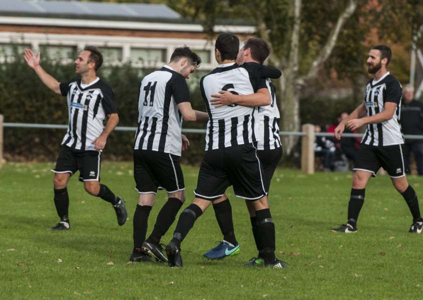 GOING UP? Harleston are hoping to be playing Thurlow Nunn League First Division football next season