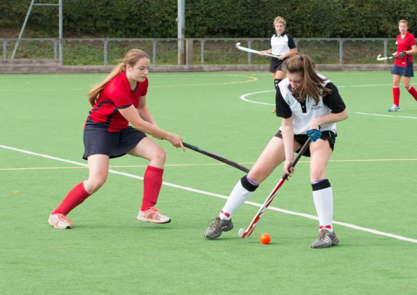 BATTLING: Elle Eglington fights for the ball against Great Yarmouth II. Magpies VI lost 4-0