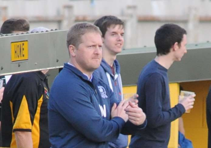 MANAGERIAL DAYS: Westcott during his time as Haverhill Borough manager, but his focus is on playing right now