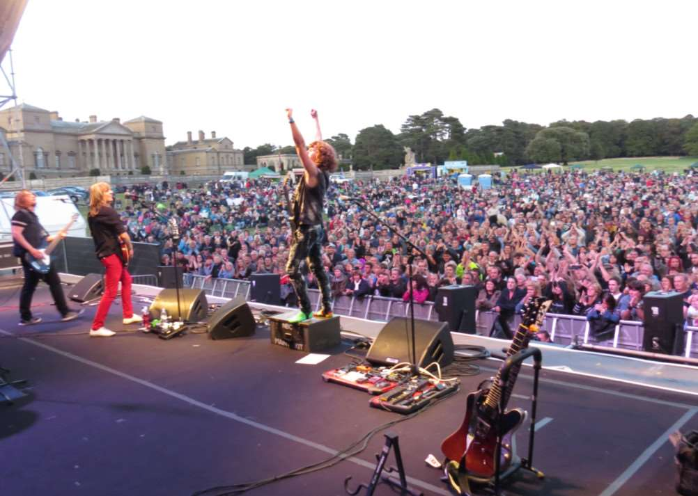Walkway, a rock band from Redgrave, performed in front of more than 8,000 in support of Status Quo at Holkham Hall. ANL-140827-093930001