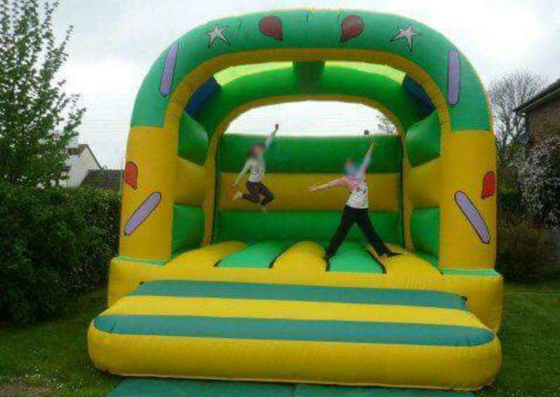 One of the stolen bouncy castles from a property in Old Newton, Suffolk.