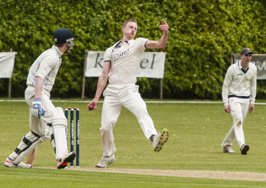 STEAMING IN: Ian Todd, who took four wickets for Topcroft, goes in search of another