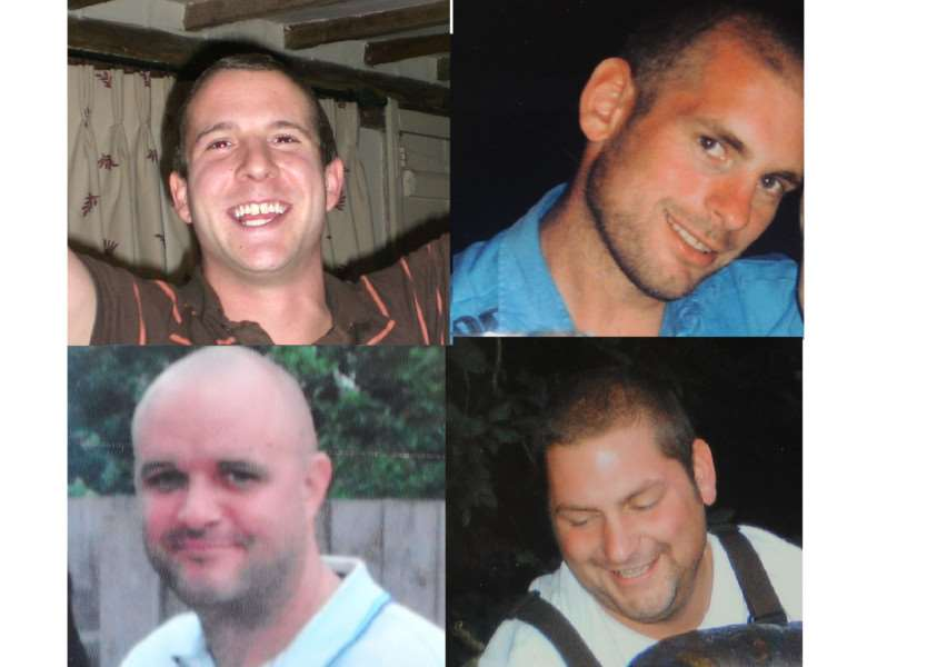 Clockwise from top left: Adam Taylor, Dan Hazelton, Tom Hazelton and Peter Johnson