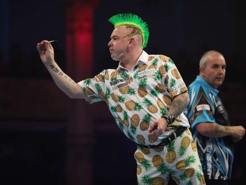 BEATEN: Peter Wright. Picture: Lawrence Lustig/PDC