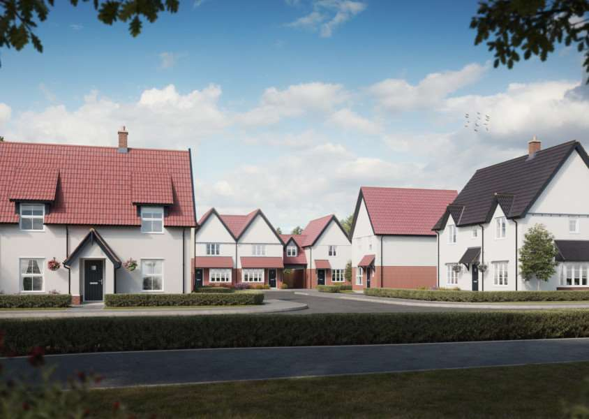 An artist's impression of the Station Fields development in Mendlesham. Contributed picture. ANL-161129-095028001