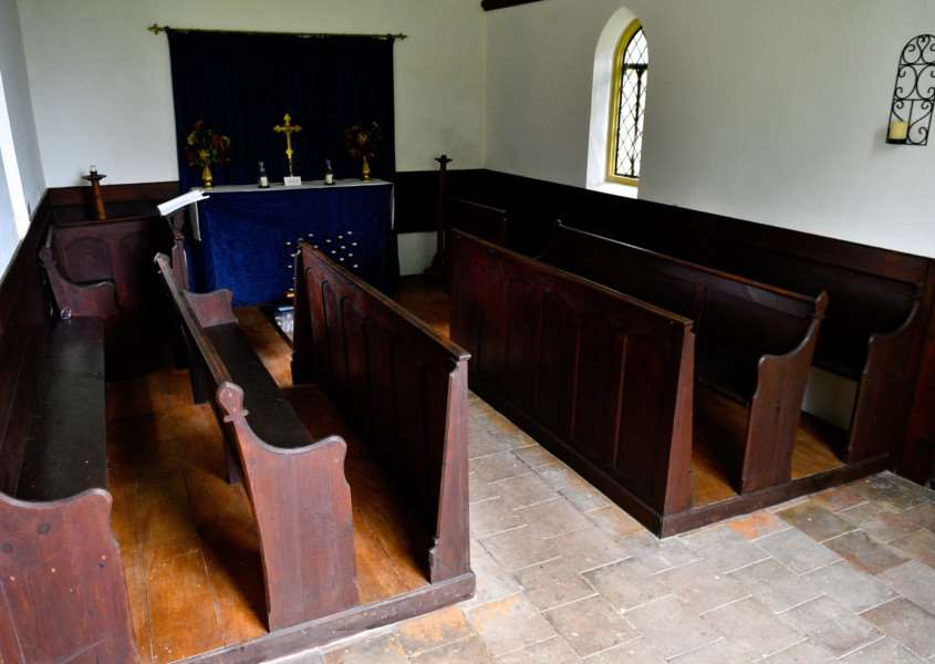 Eye, Suffolk. Eye Cemetery chapel which has had one of it's original pews stolen. ''Picture: MARK BULLIMORE